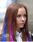 Цветные волосы прядки из канекалона на заколках фиолет, фото 2