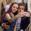 Цветные волосы прядки из канекалона на заколках фиолет, фото 3