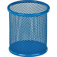 """Подставка для ручек """"Kite"""" круглая, металлическая, голубая (12) (96) №K17-2110-07"""