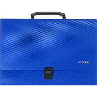 Портфель на застежке Economix E31607-02 А4 пластиковый синий
