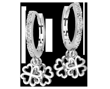 Серьги серебряные Клевер 41222