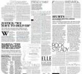 """Салфетка Silken 2-слойная """"Газета"""" с печатью 25шт 33*33см"""