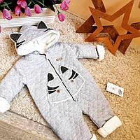 Теплый комбинезон детский плюшевый 6 -18 мес от Baby doll ОПТ и Розница Турция, фото 1