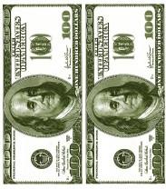 """Салфетка Silken 3-сл, """"Money-money"""" с печатью 24шт 33*33см 1/8"""