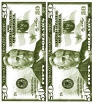 """Салфетка Silken 3-сл, """"Money-money"""" с печатью 24шт 33*33см 1/8, фото 2"""