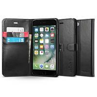Книжка-Чехол Spigen для iPhone 8 Plus / 7 Plus Wallet S, Black (055CS22637), фото 1