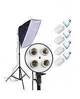 Постоянный флуоресцентный свет Luxfoto (4x45W, софт бокс 50x70 см, стойка 2 м)