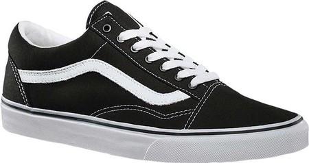 Мужские Кроссовки Vans Old Skool Sneaker Black True White (Canvas ... 30a3cc10b963f