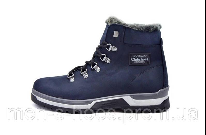 Кожаные  мужские зимние ботинки Clubshoes Sportwear Blue
