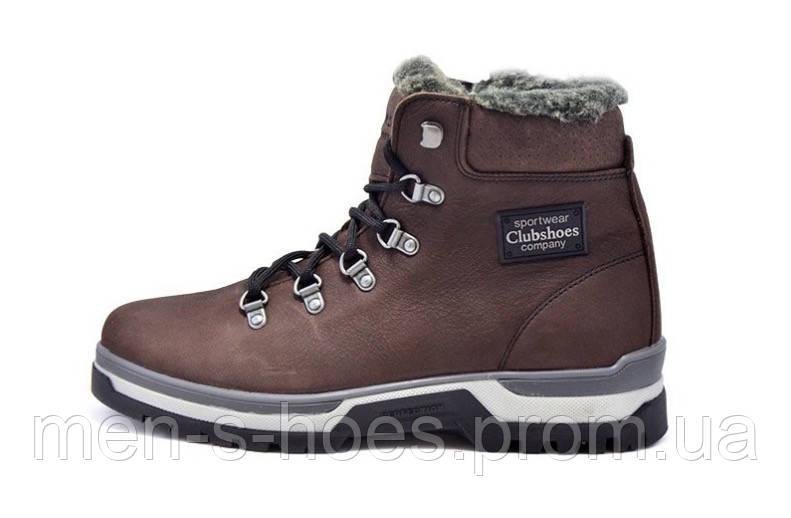 Кожаные  мужские зимние ботинки Clubshoes Sportwear Brown