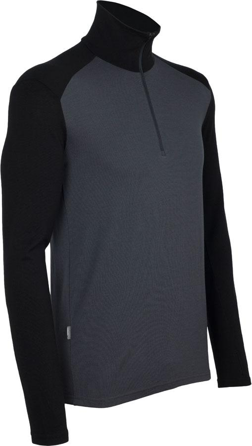 Термофутболка мужская Icebreaker 260 Tech Long Sleeve Half Zip Monsoon-Black S (100 484 D46 S)