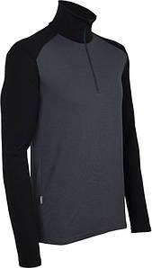 Термофутболка мужская Icebreaker 260 Tech Long Sleeve Half Zip Monsoon-Black XL (100 484 D46 XL)