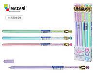 Ручка гелевая LAURA, СИНЯЯ, игольчатый пишущий узел 0.5 мм, цветной пластиковый корпус, ассорти 4 цвета