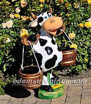Подставка для цветов кашпо Корова с ведрами, фото 3