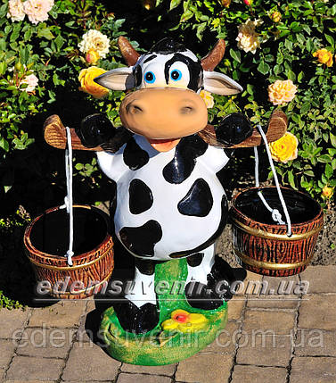 Подставка для цветов кашпо Корова с ведрами, фото 2