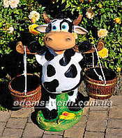 Подставка для цветов кашпо Корова с ведрами