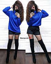 Тёплый ангоровый свитер с люрексом, размер единый 42-48, фото 2