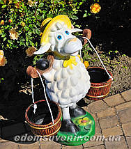 Подставка для цветов кашпо Овца с ведрами, фото 3