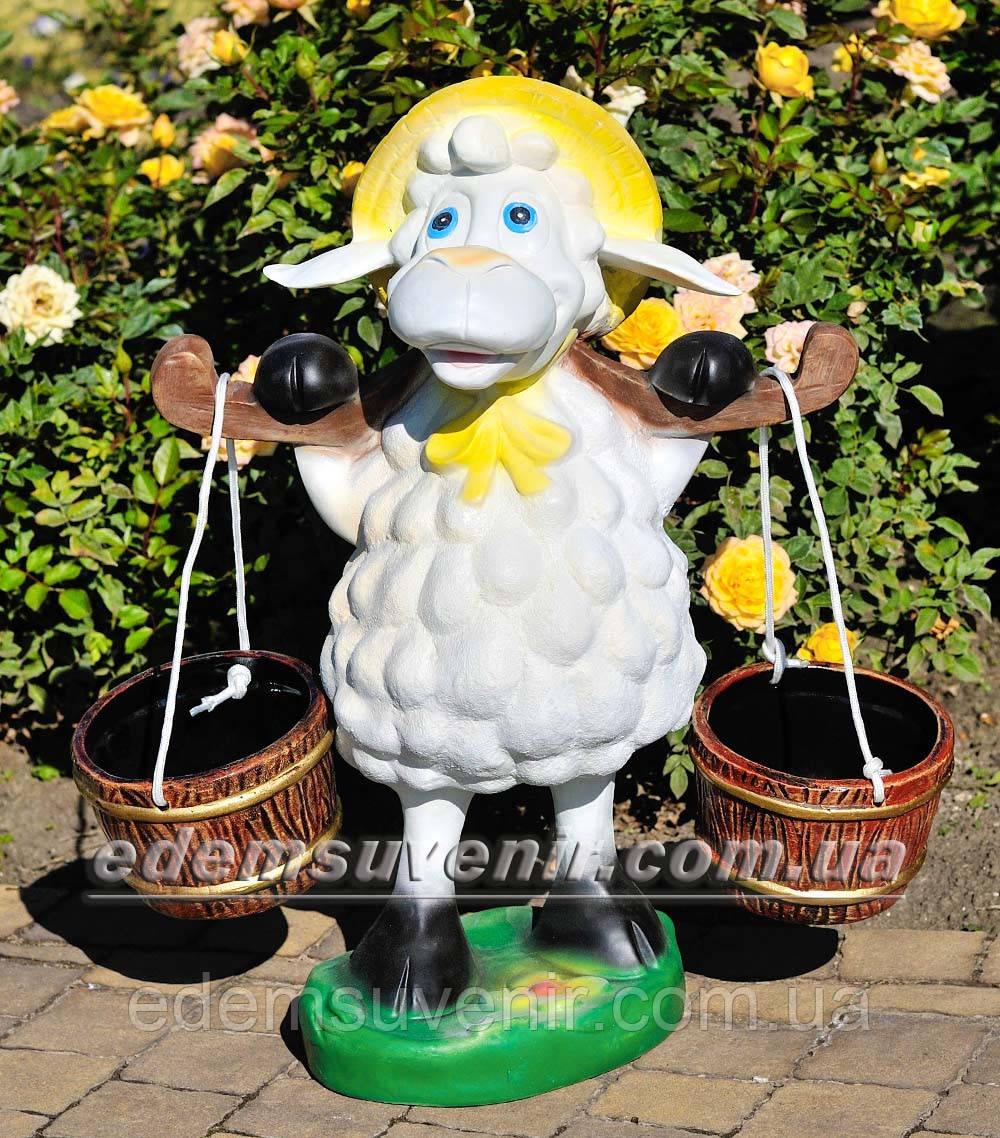 Подставка для цветов кашпо Овца с ведрами