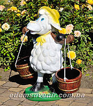 Подставка для цветов кашпо Овца с ведрами, фото 2