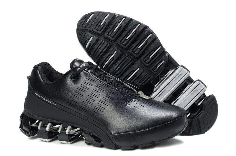 Мужские кроссовки Adidas Porsche Design IV черные (кожа), фото 1