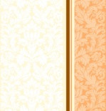 """Салфетка Silken 3-слойная """"Дамаск"""" Персик с печатью 20шт 33*33см"""