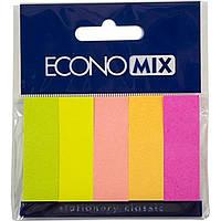 "Стікери-закладки ""Economix"" 5неон.кольор.,150шт №Е20935(20)"