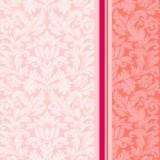 "Серветка Silken 3-сл, ""Дамаск"" Рожевий з печаткою 20шт 1/4 33*33см"