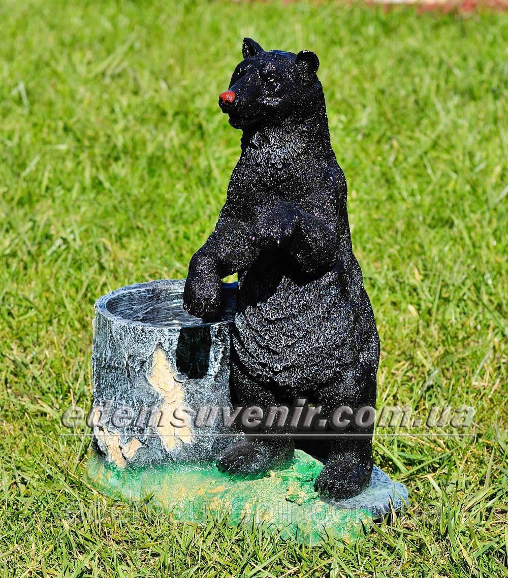 Подставка для цветов кашпо Медведь с пеньком