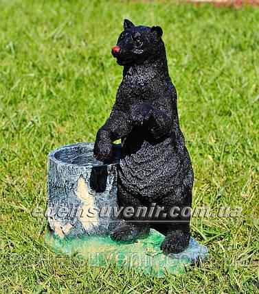 Подставка для цветов кашпо Медведь с пеньком, фото 2