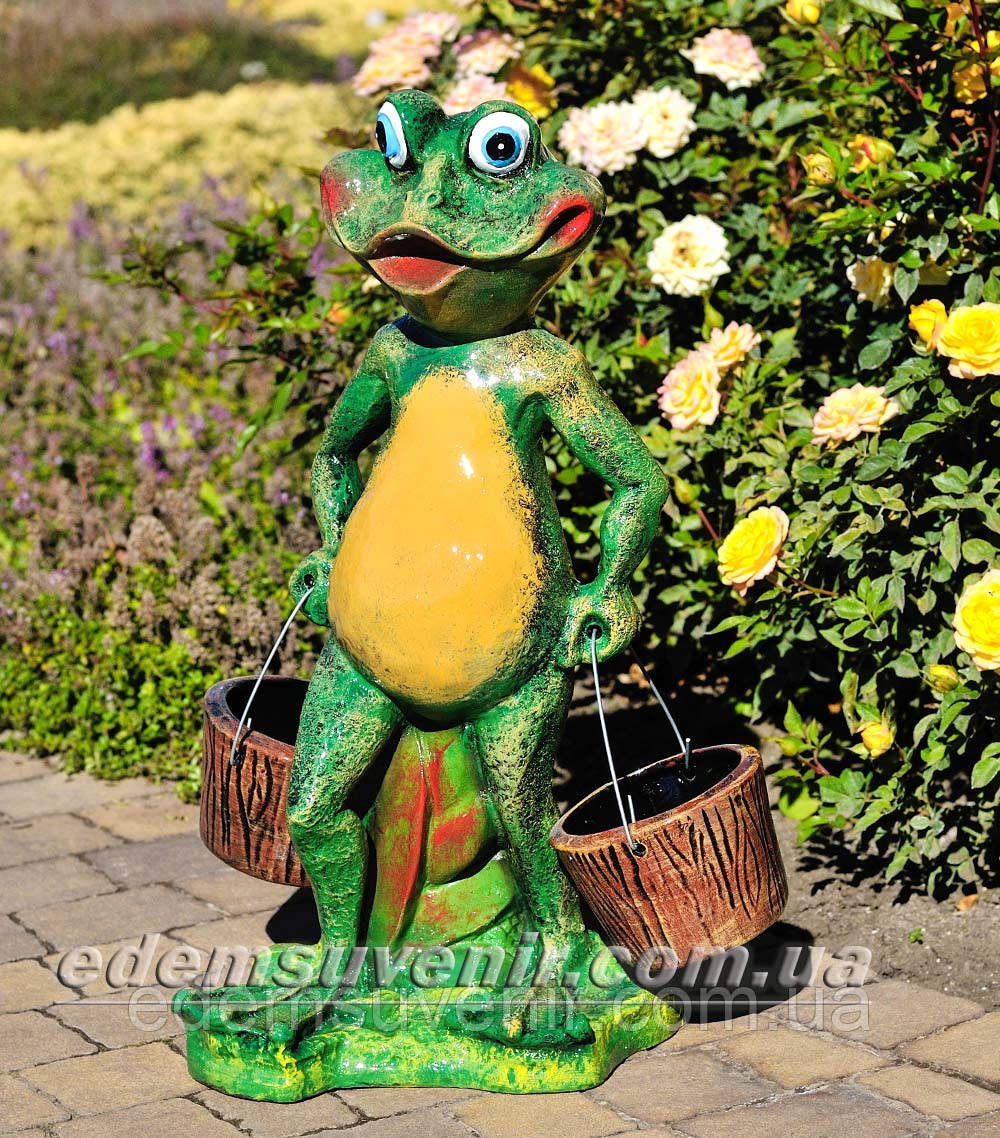 Подставка для цветов кашпо Лягушка с ведрами