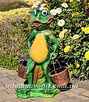 Подставка для цветов кашпо Лягушка с ведрами, фото 1