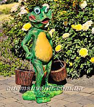 Подставка для цветов кашпо Лягушка с ведрами, фото 3