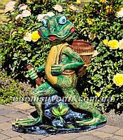 Подставка для цветов кашпо Лягушка с корзиной