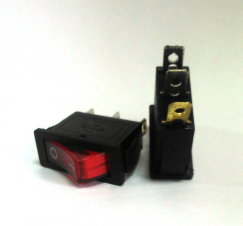 Кнопочный выключатель узкий 28,5 * 10,5 мм (задвоенный, не заказывать)