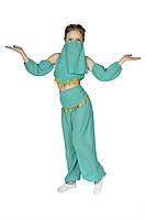 Детский карнавальный костюм Восточная красавица ( топик, штаны, повязки, пояс с монетками и маска) шифон