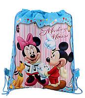Сумка-мешок/рюкзак для спортивной формы и сменной обуви с мультяшным принтом  «Mickey Mouse»