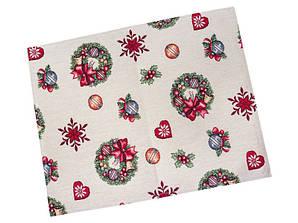 Салфетка-подкладка под тарелку гобеленовая новогодняя 34 х 44 см