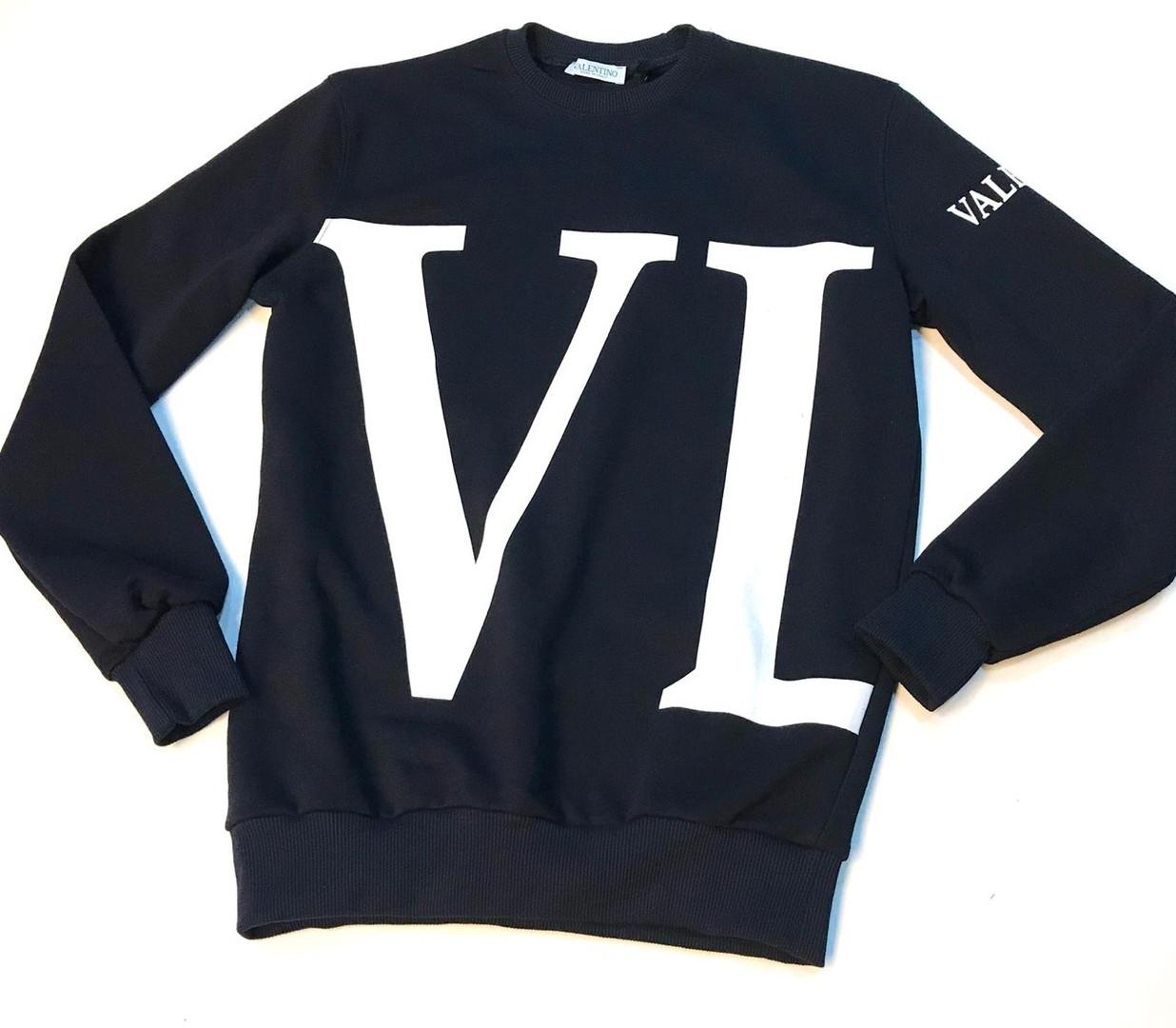 Свитшот стильный Valentino темно-синего цвета топ реплика