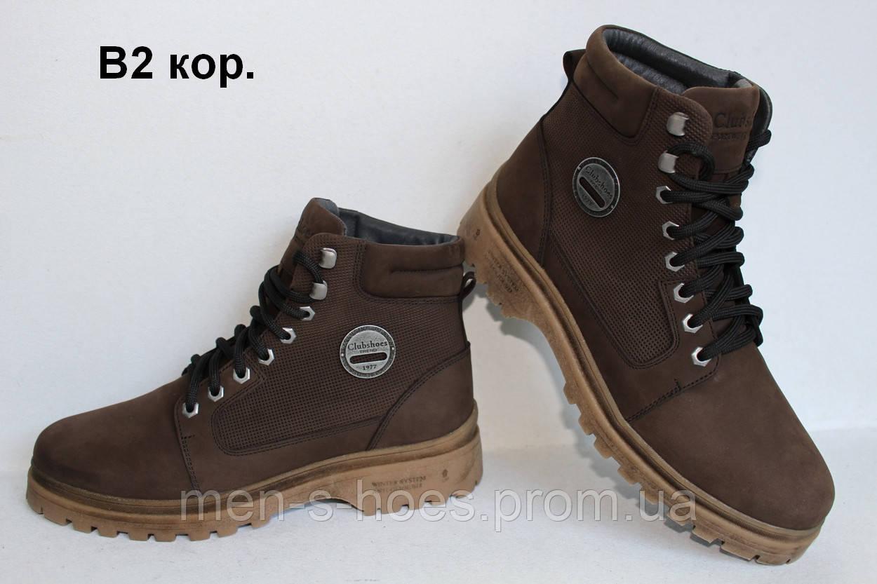 Стильные мужские зимние кожаные ботинки Fashion Shoes Brown  продажа ... af5dcdd0ffa