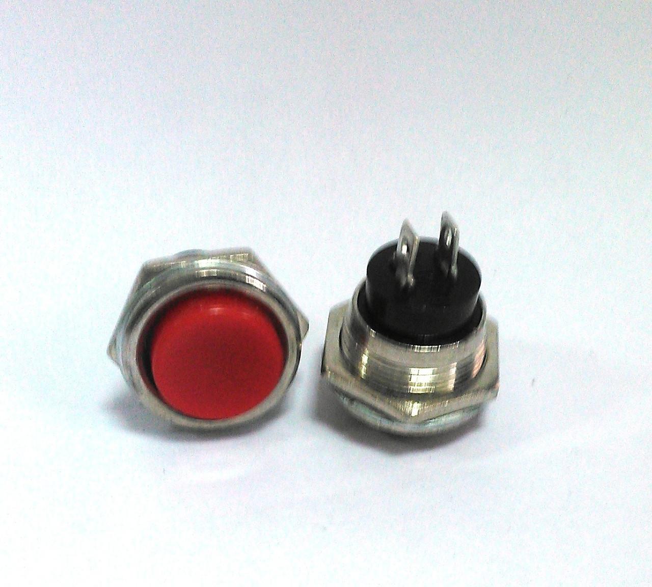 Кнопка пусковая PBS-26B без фиксации OFF-(ON), 2pin, 2А 250V RED