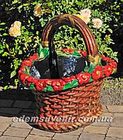 Подставка для цветов кашпо Корзина малая