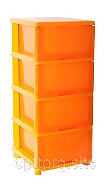 Комод оранжевый 46,5х39,5х95,5 Алеана 124093