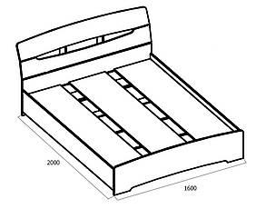 Кровать двухспальная крепкая Марго, фото 3