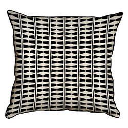 Подушка інтер'єрна з мішковини Геометрический орнамент 45x45 см (45PHB_AW001_WH)