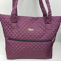 Стильная стеганая сумка с карманом