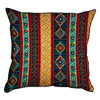 Подушка для интерьера из мешковины 45х45 Folk style (45PHB_15NGETN023_BR)