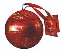 Шоколадные конфеты Sliwka Naleczowska Goplana в елочном шаре (вишня в шоколаде с ликером) 190 гр