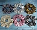 Объемные резинки для волос текстиль с напылением d 10 см 12 шт/уп, фото 3