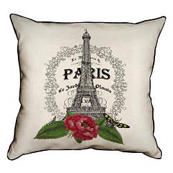 Подушка інтер'єрна з мішковини Paris 45x45 см (45PHB_14M002)